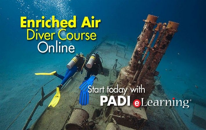 PADI Enriched Air Diver course online